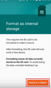 How To Use SD Card As Internal Memory On Android Without Rooting 2019 trick (step 7)