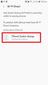 How To Use Wifi Direct to Transfer Files step 9
