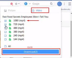 How to Enable Download option on uc browser step 6