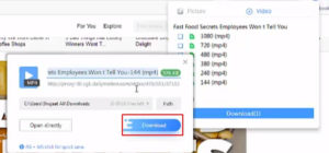 How to Enable Download option on uc browser step 7