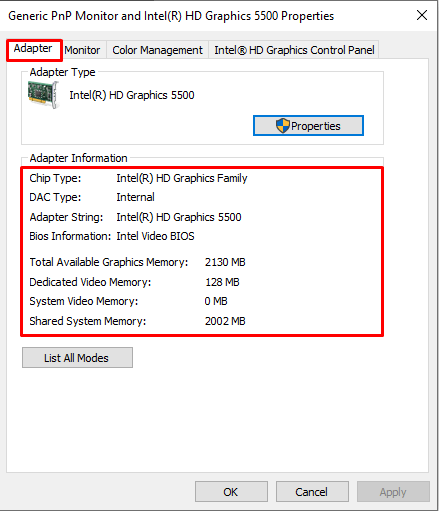 Check Graphic Card Memory In Windows 10 Method 4
