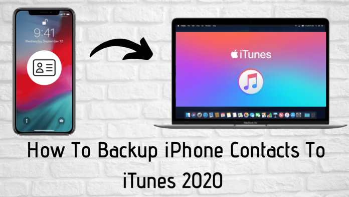 How To Backup iPhone Contacts To iTunes [The Easy Way]