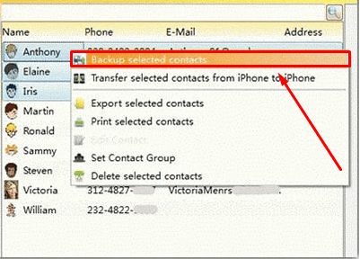 How To Backup iPhone Contacts With Third-Party Software step 3