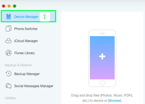 How To Backup iPhone Contacts to iTunes Like Software Anytrans step 1